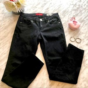 GUESS Jeans black low rise power skinny size 26